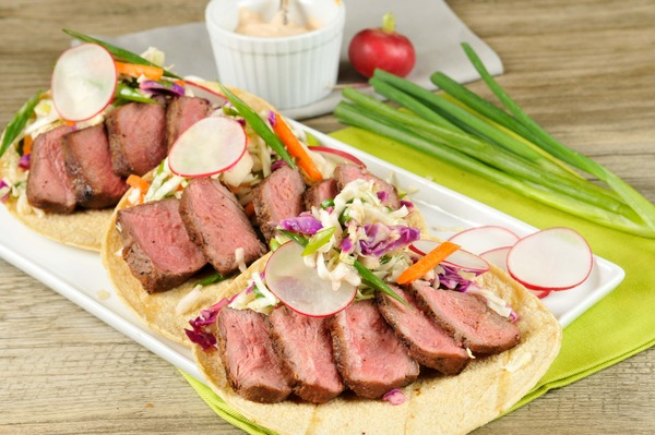 Flat-Iron Steak Tacos Recipe — Dishmaps